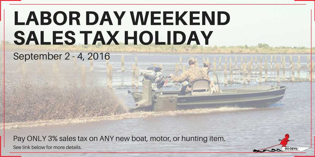 Go-Devil Sales Tax Holiday Labor Day 2016
